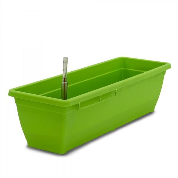 Bewässerungskasten 60 cm AquaToscana grün + Wasserstandsanzeiger