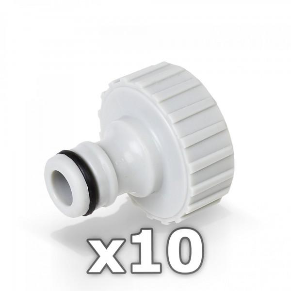 10 x Berlan Hahnstück für Wasserhahn 1'' Zoll - RED LINE -