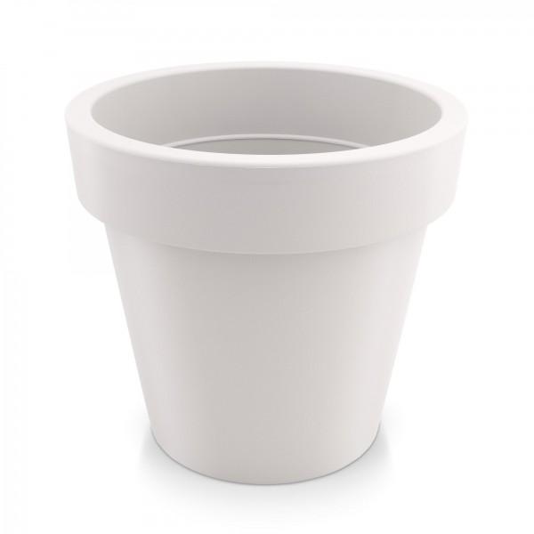 Kunststoff Blumentopf - weiß - Höhe 225 mm