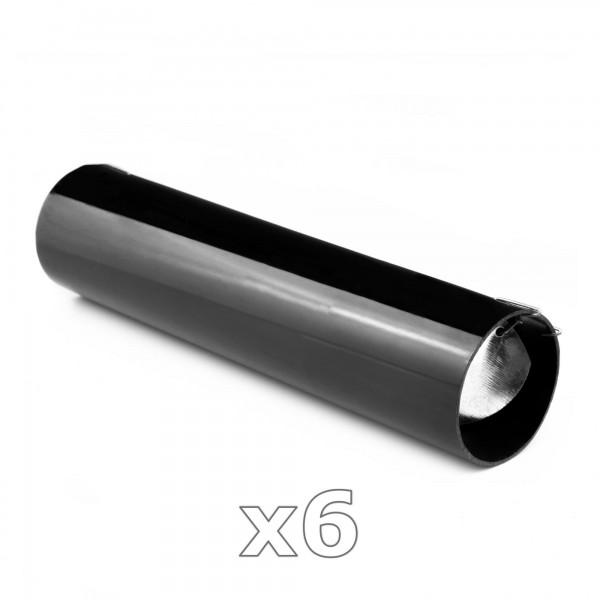 6 x PVC Röhrenfalle - Lebendfalle für Nager mit Sichtschlitz - schwarz