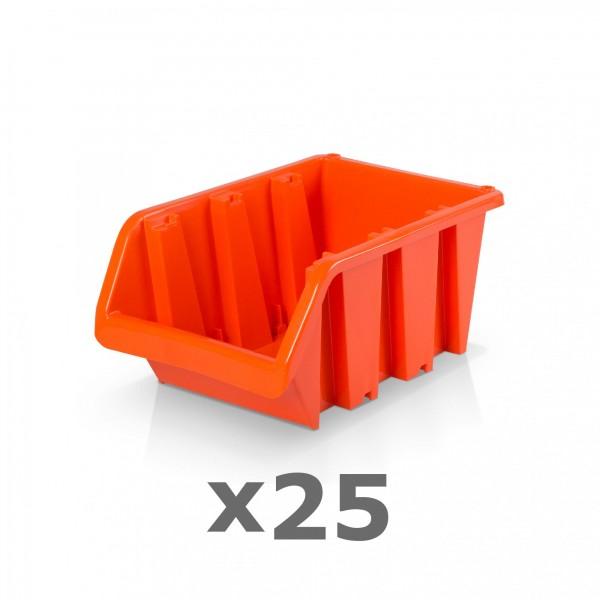 25 x Lagerbox Größe 3 rotbraun
