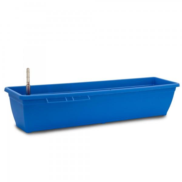 Bewässerungskasten 80 cm AquaToscana blau + Wasserstandsanzeiger