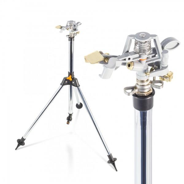 Teleskop Impulsregner mit Stativ - bis 452 m² - 57-90 cm
