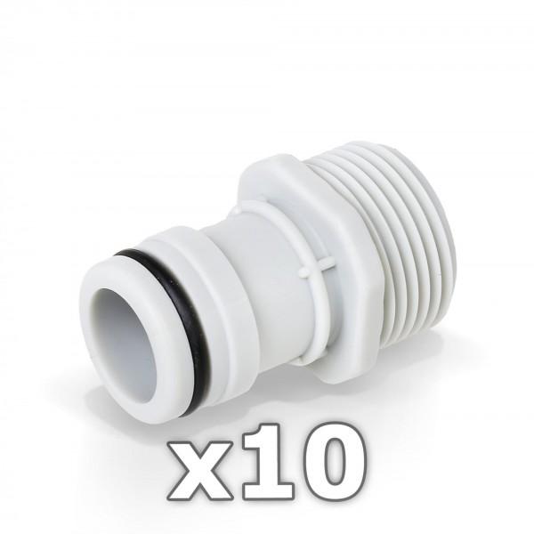 10 x Berlan Gerätestück 1'' Zoll AG - RED LINE -