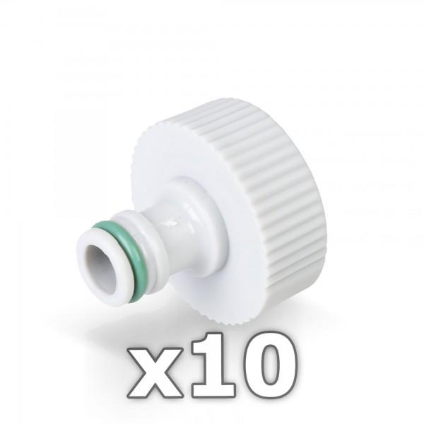 10 x Hahnstück für Wasserhahn 1'' Zoll - GREEN LINE -