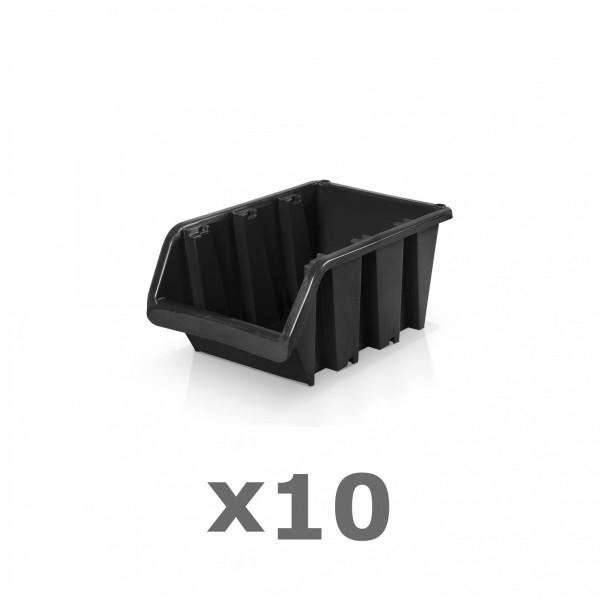10 x Lagerbox Größe 1 schwarz