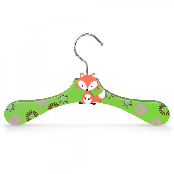 Kinder-Kleiderbügel aus Holz - Motiv Fuchs