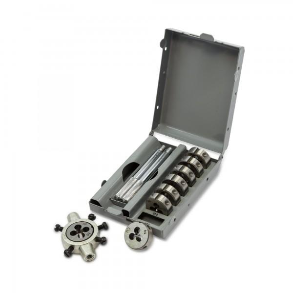 9 tlg. Gewindeschneidsatz M3 - M12 in Metallkassette