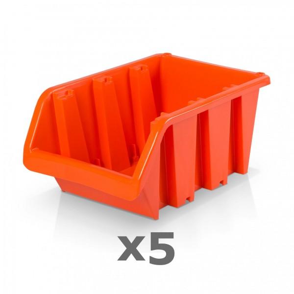 5 x Lagerbox Größe 5 rotbraun