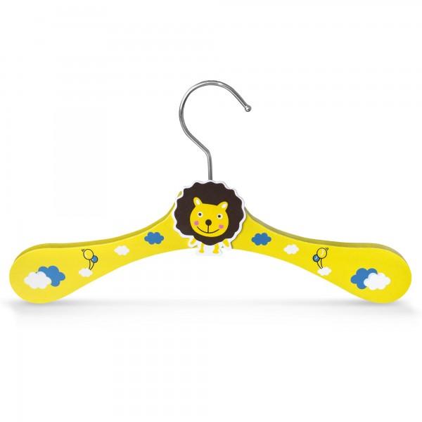 Kinder-Kleiderbügel aus Holz - Motiv Löwe