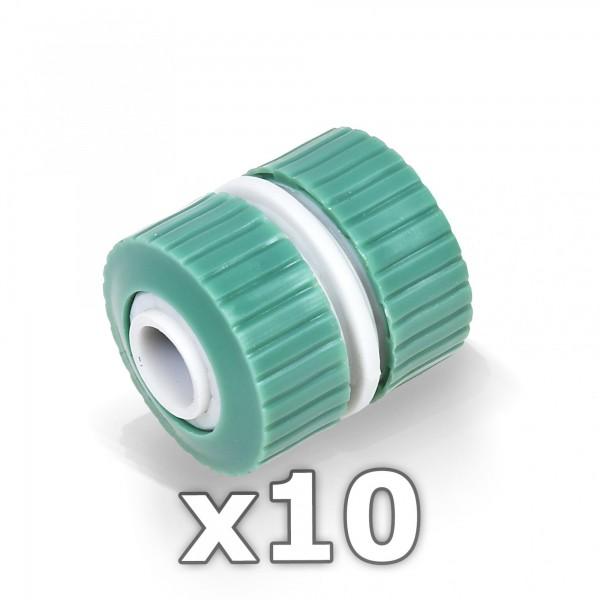 "10 x Berlan 3/4"" Zoll Reparator Schlauchverbinder -GREEN LINE-"