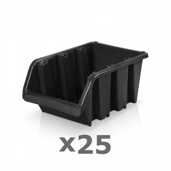 25 x Lagerbox Größe 4 schwarz